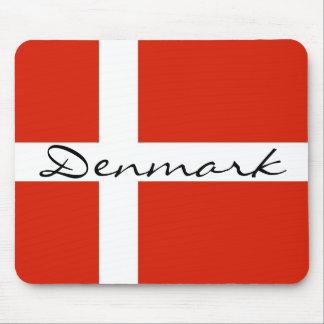Dänemark mit Dannebrog Mousepads