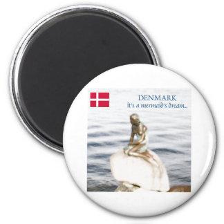 Dänemark Runder Magnet 5,7 Cm