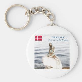 Dänemark Standard Runder Schlüsselanhänger