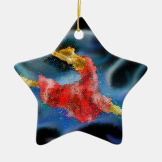 Danerossia V1 - der Tanz Keramik Stern-Ornament