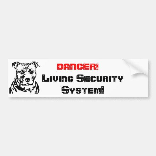 DANGER!, Living Sec... Autoaufkleber