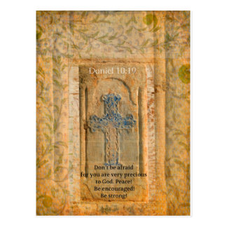 Daniel-10:19 Bibel-Vers über Entmutigung Postkarte
