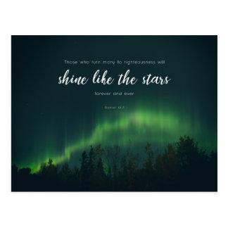 Daniel-12:3 - Glanz wie die Sterne Postkarte