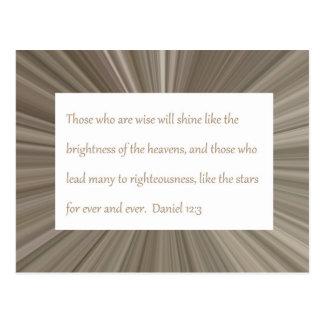 Daniel-12:3 Schrifts-Postkarte Postkarte