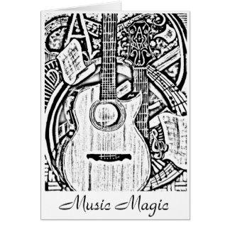 Daniel alveraz Schwarzweiss, Musik-Magie Karte