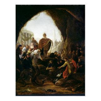 Daniel, der den Drachen von Baal tötet Postkarte
