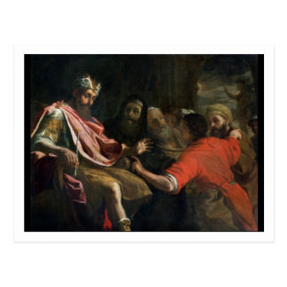 Daniel, der Nebuchadnezzars ersten Traum Postkarte