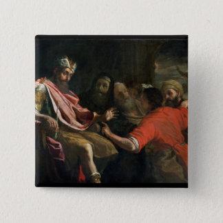 Daniel, der Nebuchadnezzars ersten Traum Quadratischer Button 5,1 Cm