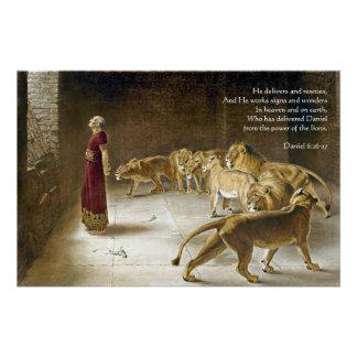 Daniel in der die Höhlen-Bibel-Kunst-Schrift des Poster