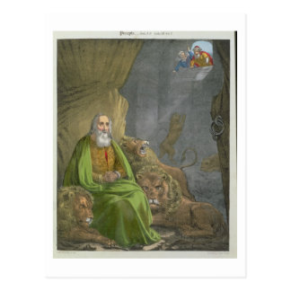 Daniel in der Höhle der Löwen, von einer Bibel Postkarte
