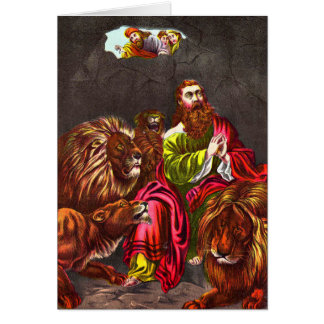 Daniel in der Löwe ` s Höhle Grußkarte