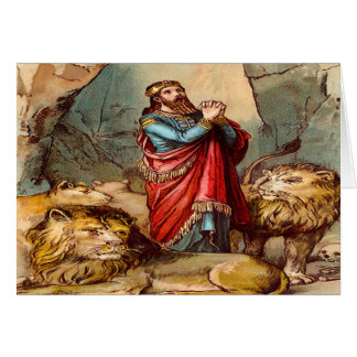 Daniel in der Löwe ` s Höhle Grußkarte 2