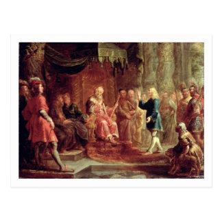 Daniel interpretiert Nebuchadnezzars ersten Traum Postkarte