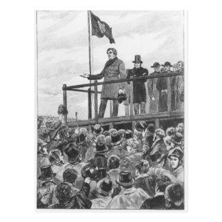 Daniel O'Connel bei der Sitzung an der Ordnung Postkarte