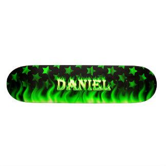 Daniel-Skateboardgrünfeuer und Flammenentwurf Individuelles Skateboard