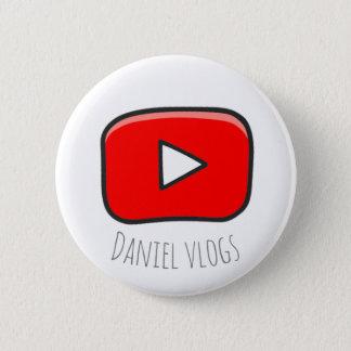 Daniel vlogs Youtube-Knopf Runder Button 5,7 Cm