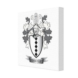 Daniels Familienwappen-Wappen Leinwanddruck