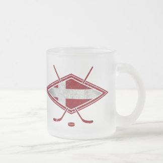 Dänische Eis-Hockey-Flaggen-Logo-Tasse Mattglastasse