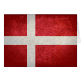 Dänische Flagge Karte