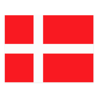 Dänische Flagge Postkarte