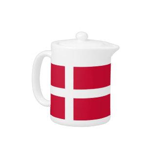 Dänische Flaggen-Teekanne