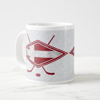 Dänische Hockey-Flaggen-Logo-Tasse Jumbo-Tasse