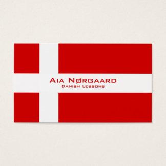 Dänische Lektionen/dänischer Lehrer Visitenkarten