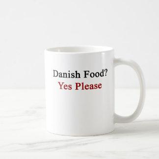 Dänische Nahrung gefallen ja Kaffeetasse