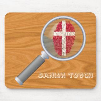 Dänische Touchfingerabdruckflagge Mauspads