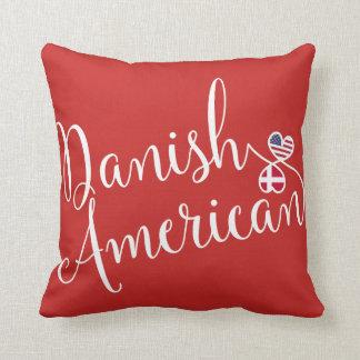 Dänischer Amerikaner entwirrtes Herz-Wurfs-Kissen Kissen