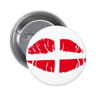 dänischer danmark Flaggenlippenstift Runder Button 5,7 Cm