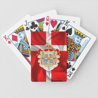Dänischer FlaggeMantel der Arme Bicycle Spielkarten