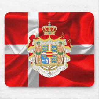 Dänischer FlaggeMantel der Arme Mauspads