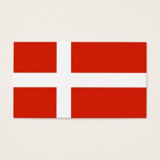 Dänischer Flaggen-Geschenk-Umbau Visitenkarte