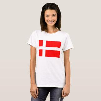 Dänischer Flaggen-T - Shirt