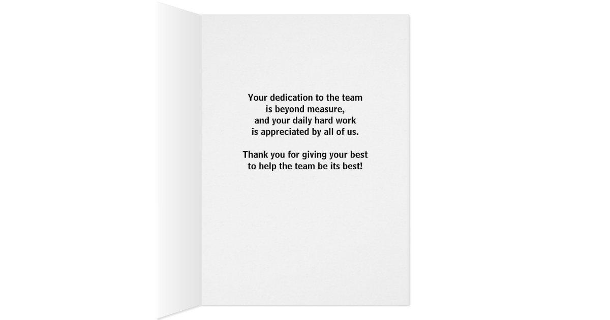 Dank-Basketball-Trainer für Widmung, harte Arbeit Mitteilungskarte   Zazzle