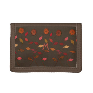 Dank-Blumen-Fall Blumenmonogramm-Geldbörse geben