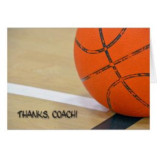 Dank für Basketball-Trainer Grußkarte