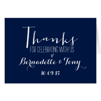 Dank für das Feiern mit uns! Wedding danken Ihnen Mitteilungskarte