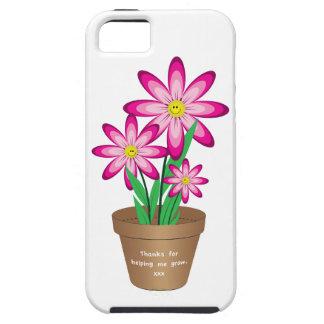 Dank für das Helfen ich wächst - glückliche Blume iPhone 5 Schutzhülle