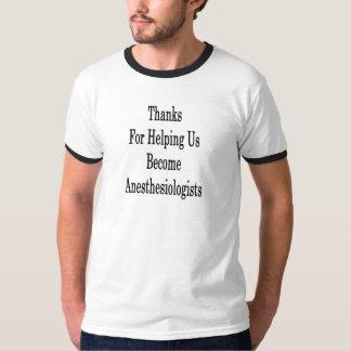 Dank für das Helfen wir steht Anästhesiologen T-Shirt