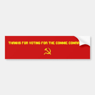 Dank für die Abstimmung für die Commie-Kameraden Autoaufkleber