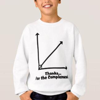 Dank für die Ergänzung Sweatshirt