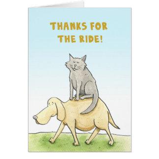 Dank für die Fahrt! Katzen- und Hundekarte Karte