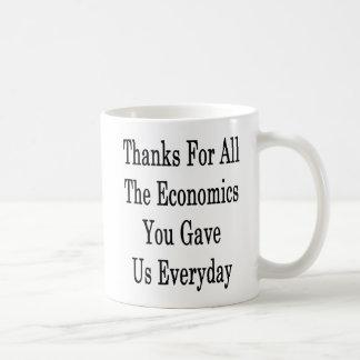 Dank für die ganze Wirtschaft gaben Sie uns Kaffeetasse