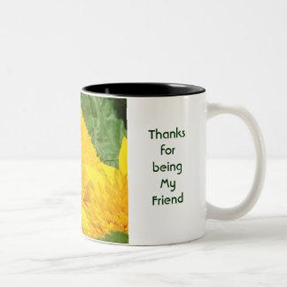 Dank für Sein mein Freund! Kaffeetasse-Tasse mit B Zweifarbige Tasse