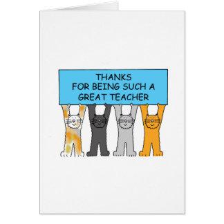 Dank für Sein solch eine Katzen eines große Grußkarte