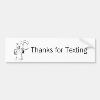 """""""Dank für Texting"""" - Leute makin Autoaufkleber"""