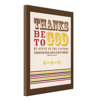 Dank ist zum Gott - Herbst-Erntedank-Wand-Kunst Gespannte Galeriedrucke