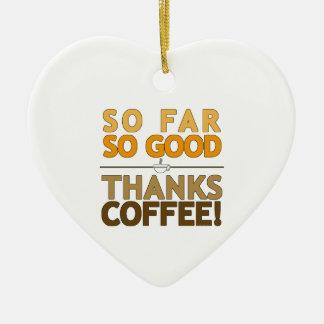 Dank-Kaffee Keramik Ornament